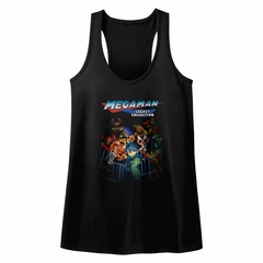 Mega Man Juniors Tank Top Legacy Collection Black Racerback
