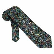 Mellow Melody Tie Black Silk Necktie - Mens Music Neck Tie
