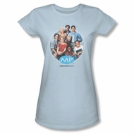 Melrose Place Shirt Juniors Cast Light Blue T-Shirt