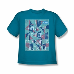 Melrose Place Shirt Kids Innocent Turquoise T-Shirt
