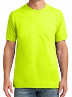 Men's High Visibility Performance Bike Shirt - Safety Green