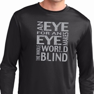 Mens An Eye for an Eye Dry Wicking Long Sleeve