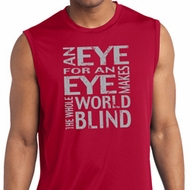 Mens An Eye for an Eye Dry Wicking Sleeveless Shirt