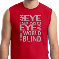 Mens An Eye for an Eye Muscle Shirt