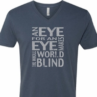 Mens An Eye for an Eye V-neck Shirt