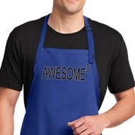 Mens Apron Awesome Cubed Full Length Apron with Pockets
