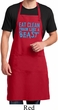 Mens Apron Eat Clean Train Like a Beast Full Length Apron with Pockets