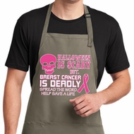 Mens Apron Halloween Scary Full Length Apron with Pockets