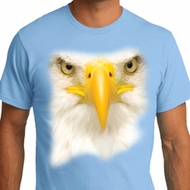 Mens Bald Eagle Shirt Big Bald Eagle Face Organic T-Shirt