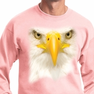 Mens Bald Eagle Sweatshirt Big Bald Eagle Face Sweat Shirt
