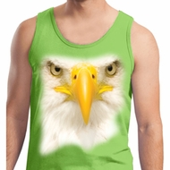 Mens Bald Eagle Tanktop Big Bald Eagle Face Tank Top