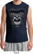 Mens Gorilla Shirt Big Gorilla Face Muscle Tee T-Shirt