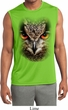 Mens Big Owl Face Sleeveless Moisture Wicking Tee T-Shirt