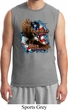 Mens Biker Shirt American By Birth Muscle Tee T-Shirt