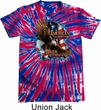 Mens Biker Shirt American By Birth Patriotic Tie Dye Tee T-shirt