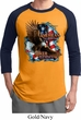 Mens Biker Shirt American By Birth Raglan Tee T-Shirt