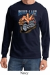 Mens Biker Shirt Built To Last Long Sleeve Tee