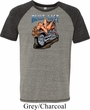 Mens Biker Shirt Built To Last Tri Blend Tee T-Shirt