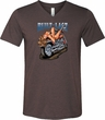 Mens Biker Shirt Built To Last Tri Blend V-neck Tee