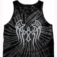 Mens Biker Shirt Cross Wings Tank Tie Dye Tee T-shirt