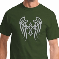 Mens Biker Shirt Cross Wings Tee T-Shirt