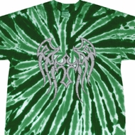 Mens Biker Shirt Cross Wings Twist Tie Dye Tee T-shirt