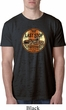Mens Biker Shirt Last Stop Burnout Tee T-Shirt