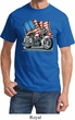 Mens Biker Shirt Motorcycle Flag Tee T-Shirt