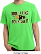 Mens Biker Shirt Ride It Like You Stole It Pigment Dyed Tee T-Shirt