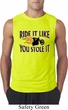 Mens Biker Shirt Ride It Like You Stole It Sleeveless Tee T-Shirt