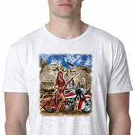 Mens Biker Shirt Sturgis Indian Burnout Tee T-Shirt