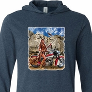 Mens Biker Shirt Sturgis Indian Lightweight Hoodie Tee
