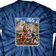 Mens Biker Shirt Sturgis Indian Long Sleeve Tie Dye Tee T-shirt