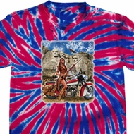 Mens Biker Shirt Sturgis Indian Patriotic Tie Dye Tee T-shirt