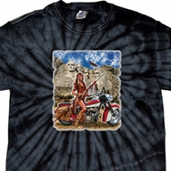 Mens Biker Shirt Sturgis Indian Spider Tie Dye Tee T-shirt