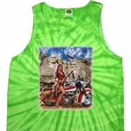 Mens Biker Shirt Sturgis Indian Tank Tie Dye Tee T-shirt