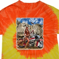 Mens Biker Shirt Sturgis Indian Tie Dye Tee T-shirt