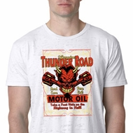 Mens Biker Shirt Thunder Road Burnout Tee T-Shirt