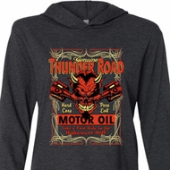 Mens Biker Shirt Thunder Road Lightweight Hoodie Tee