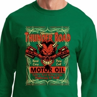 Mens Biker Shirt Thunder Road Long Sleeve Tee