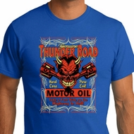 Mens Biker Shirt Thunder Road Organic Tee T-Shirt