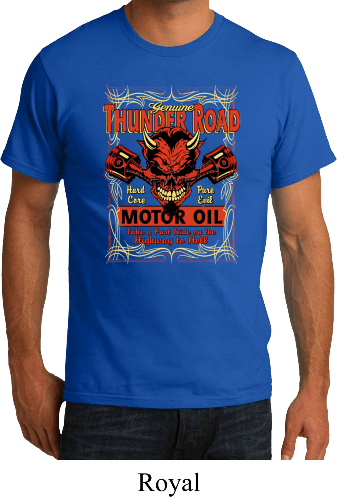 Mens Biker Shirt Thunder Road Organic Tee T Shirt