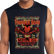 Mens Biker Shirt Thunder Road Sleeveless Moisture Wicking Tee T-Shirt