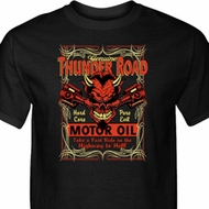 Mens Biker Shirt Thunder Road Tall Tee T-Shirt
