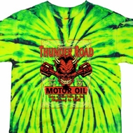 Mens Biker Shirt Thunder Road Tie Dye Tee T-shirt