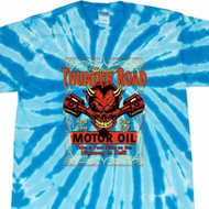 Mens Biker Shirt Thunder Road Twist Tie Dye Tee T-shirt