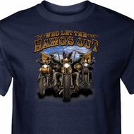 Mens Biker Shirt Who Let The Hawgs Out Tall Tee T-Shirt