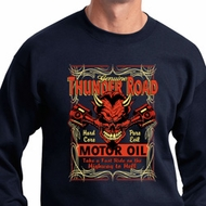 Mens Biker Sweatshirt Thunder Road Sweat Shirt