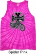 Mens Biker Tanktop Chopper Cross Skeleton Tie Dye Tank Top