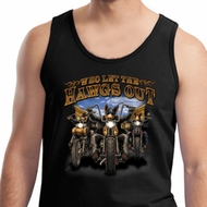 Mens Biker Tanktop Who Let The Hawgs Out Tank Top
